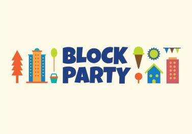block-party-vector-illustration